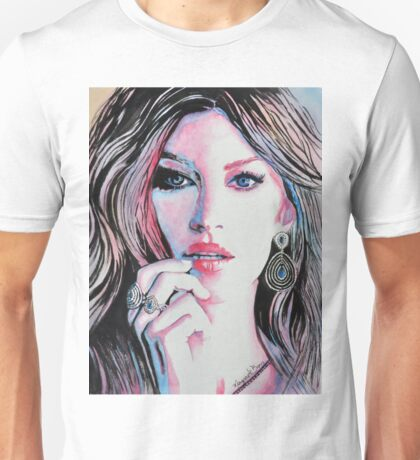 Gisele Bündchen in watercolor painting Unisex T-Shirt