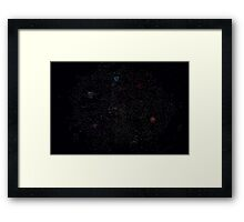 Map of the Inner Sphere ca. 3048 (with background) Framed Print