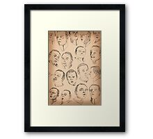 The Study of Scotty Framed Print