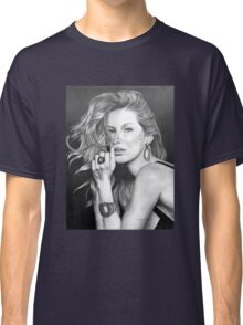 Gisele Bündchen in Graphite Pencil Classic T-Shirt