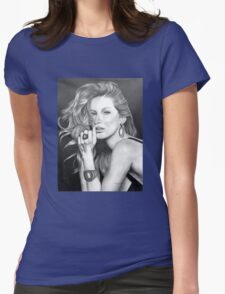 Gisele Bündchen in Graphite Pencil Womens Fitted T-Shirt