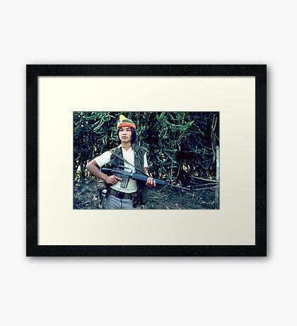 Rebel soldier Framed Print