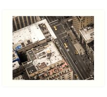 Vintage photograph of the streets New York City Art Print