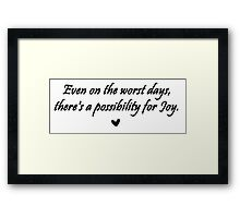 Caskett Joy Framed Print