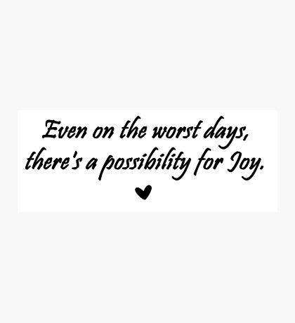 Caskett Joy Photographic Print