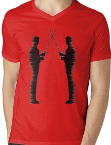 The Duel Mens V-Neck T-Shirt