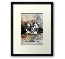 Hunting foxes Framed Print