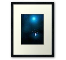 Dark Angel in the Forest Framed Print
