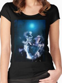 Dark Angel in the Forest 2 Women's Fitted Scoop T-Shirt