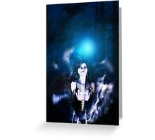 Dark Angel in the Forest 3 Greeting Card