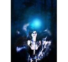 Dark Angel in the Forest 3 Photographic Print