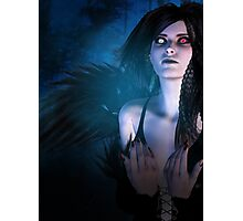 Dark Angel in the Forest 4 Photographic Print