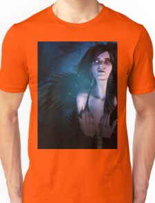 Dark Angel in the Forest 4 Unisex T-Shirt