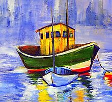 Yellow Boat by Pamela Plante