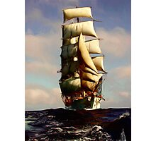 Tall Ship Painting Photographic Print