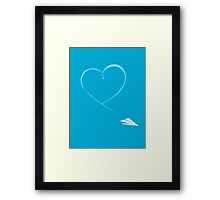 Paper Airplane Heart Framed Print
