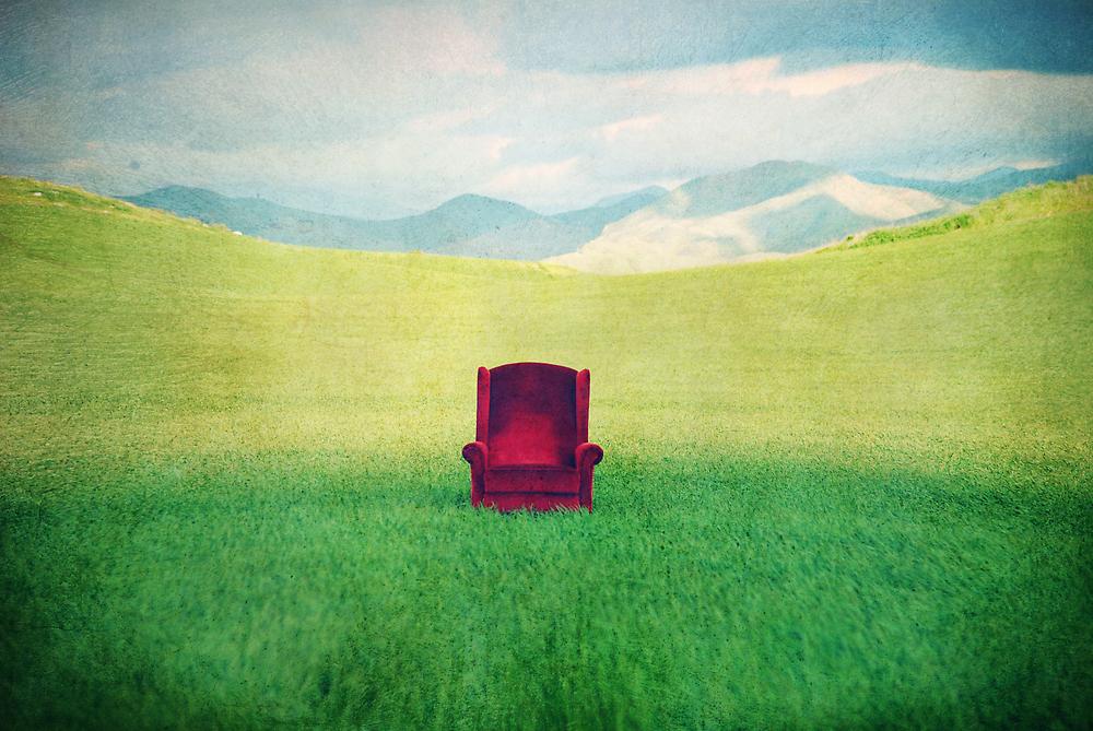 Red Chair by Corin Jones