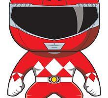 MMPR Red Ranger Funko Pop by averagejoeart