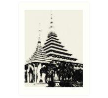 Stupa in Khon Kaen, Thailand Art Print