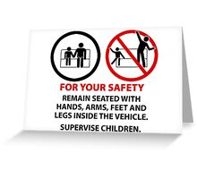 For Your Safety - No Dancing Warning (Stacked) Greeting Card