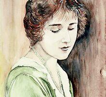 Lady Elizabeth Bowes Lyon - Queen Mother by morgansartworld