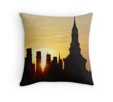 Silhouetted Ruins Throw Pillow