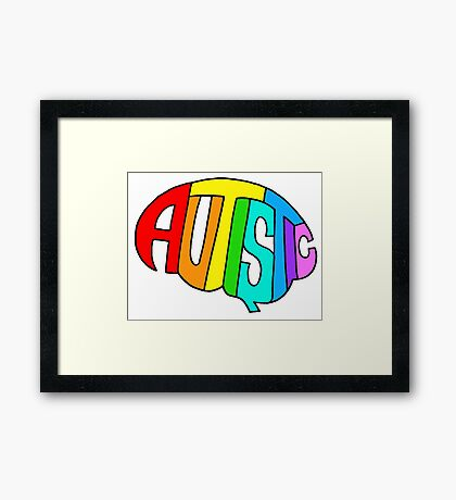 Brainbow Framed Print