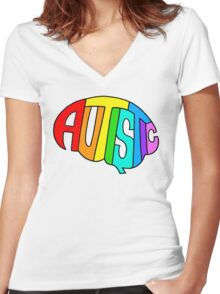 Brainbow Women's Fitted V-Neck T-Shirt