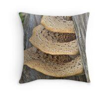 Bracket Fungus Throw Pillow