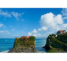 Two houses on the cliff Photographic Print