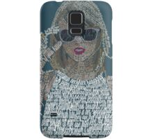 Blue Taylor Swift Typography Samsung Galaxy Case/Skin