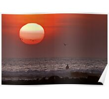 Sunset at Rincon Poster