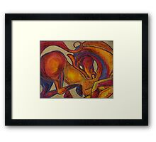 The Red Horse Framed Print