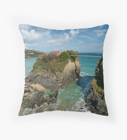 House on the cliff Throw Pillow