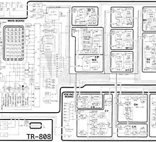Roland 808 Circuit Map by Nicole Whelan