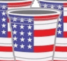 USA Beer Pong Sticker