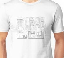 Roland 808 Circuit Map Unisex T-Shirt