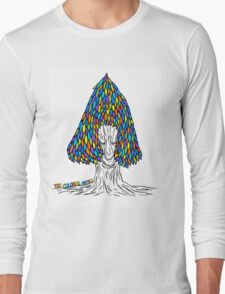 Old Trees Colored Long Sleeve T-Shirt