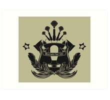 Barista Crest (light tees and hoodies) Art Print