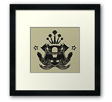Barista Crest (light tees and hoodies) Framed Print