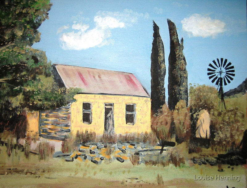 Farm house ruin Free State by Louise Henning