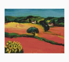 TUSCANY LANDSCAPE  WITH SUNFLOWERS Kids Clothes