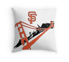 San Francisco Giants Stencil Throw Pillow
