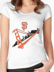 San Francisco Giants Stencil Women's Fitted Scoop T-Shirt