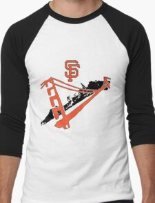 San Francisco Giants Stencil Men's Baseball ¾ T-Shirt