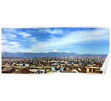 Pikes Peak Colorado from Suburbia Poster