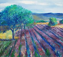 PROVENCE Landscape painting by schiabor