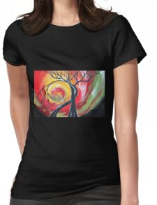 Original SURREAL landscape by ANGIECLEMENTINE Womens Fitted T-Shirt