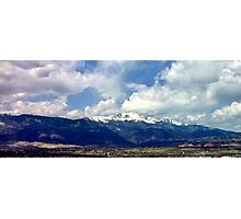 Pikes Peak from Palmer Park Photographic Print
