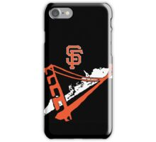 San Francisco Giants Stencil Black Background iPhone Case/Skin